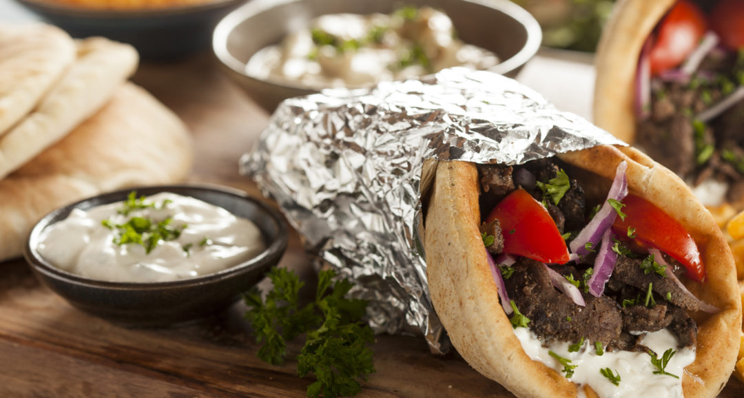 Gyro With Tzatziki Sauce Lamb Sandwich A Menu For You