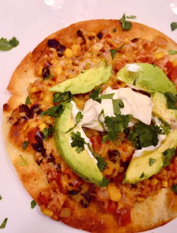 open-faced enchilada with