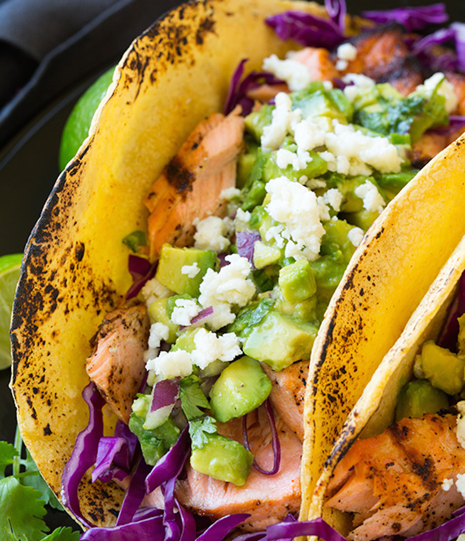 Grilled Salmon Tacos With Avocado Salsa A Menu For You