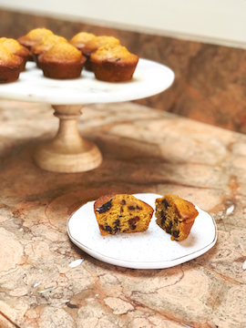 Chocolate Chip Pumpkin Muffins|These are the perfect muffins to ring in some holiday cheer