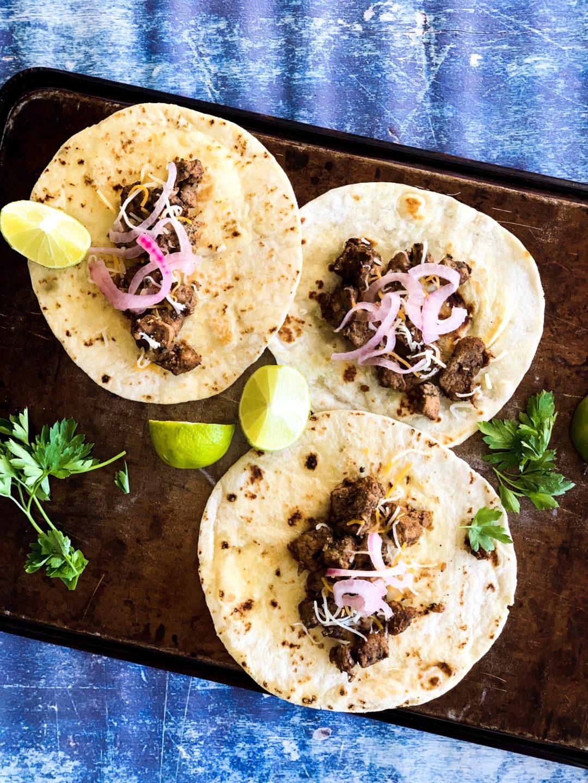skillet pork tacos